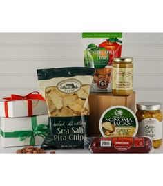 This is a great gift for sharing! It's full of delicious snacks ready to share with co-workers in the office or family members at home. Corporate Snack Gift Box from Culinary Apple