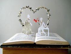Statement Book Sculpture - Valentines day - Book Art - Altered Book