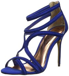 9efa34bf4 Ted Baker Womens Ninof Gladiator Sandal Blue Suede 85 M US -- Check out the