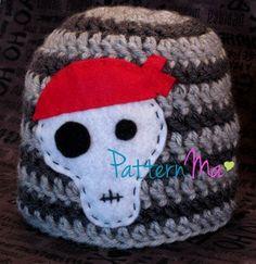 Crochet Baby Pirate Hat Beanie