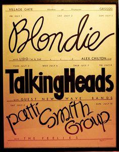Blondie, Talking Heads - Village Gate - New York 1977
