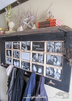 Redecorating by Repurposing: old door converted to gorgeous coat rack #upcycle #recycle