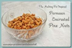 Parmesan Crusted Pine Nuts, inspired by The Melting Pot. So yummy on a caesar salad!!! #recipe #food #thebetterhalf