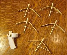 DIY Kids Crafts : DIY Popsicle Stick Bows and Arrows