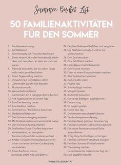 FAMILIY LIFE // SUMMER BUCKET LIST . 50 AKTIVITÄTEN, DIE IHR DIESEN SOMMER ALS FAMILIE ERLEBEN KÖNNT + GRATIS DRUCKVORLAGE
