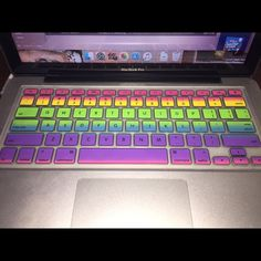 Rainbow Mac laptop keyboard cover! make typing fun and colorful :-) also quiets your keystrokes for less noise! Other