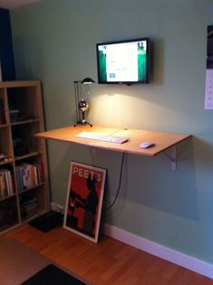 """Standing desk with """"invisible"""" data storage Ikea"""