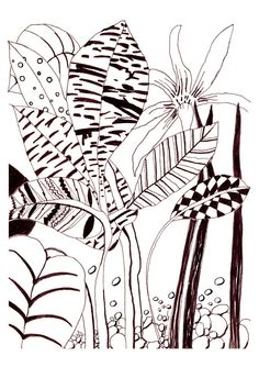Flower Poster Download. Floral illustration black and white printable. Downloadable art printables. Line drawing flower download printable