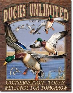 Ducks Unlimited Conservation Tin Sign