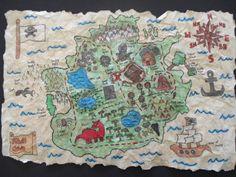 pirate treasure map, grade 7