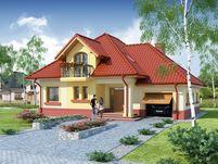 DA Dandys 1 CE Simple House Design, Dream Home Design, House Color Schemes, House Colors, Red Roof House, House Design Pictures, Modern Bungalow House, Architectural House Plans, Home Fashion