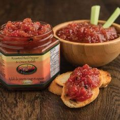 A zesty blend of sweet #roasted #red #peppers, diced #tomatoes and #onions that can be enjoyed as a #dip, #sauce or #marinade. For an awesome #appetizer, mix with cream cheese and serve with crackers.