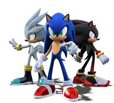 Sonic, Shadow & Silver the Hedeghogs by beckysonicfan, via Flickr going to try this design on a birthday cake!