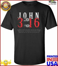 Christian TShirt John 316 with Nails #tshirts (ebay link) Christian, Nails, Link, Mens Tops, T Shirt, Ebay, Fashion, Finger Nails, Tee