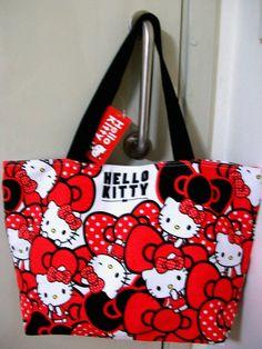 Sanrio Hello Kitty canvas tote bag / Shoulder bag - (FREE P+P) #HelloKitty #totebagShoulderbag