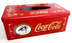 New Vintage Coca Cola Coke Tissue Box Tin Limited Edition!