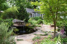 Beautiful Pond in a Garden