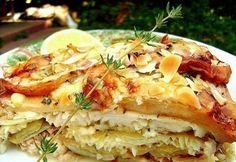 Almás rokfortos halrakottas római tálban Hawaiian Pizza, Quiche, Breakfast, Recipes, Food, Morning Coffee, Meal, Food Recipes, Essen