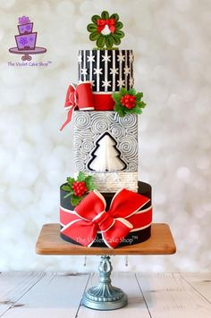 STARRY NIGHT Christmas Cake by Violet - The Violet Cake Shop