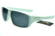Oakley Active Sunglasses White Frame Gray Lens 0036