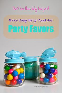 Time for Day 3 of Upcycled Baby Food Jar Ideas! And just in case you missed it… Day 2- Baby Food Jar Wood Vase & Candle Holder Decoration Day 1- Mini Cakes Baked in A Baby Food Jar If you've planned a kid's birthday party, you know that it can get really expensive really quickly! …