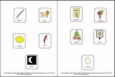 MATERIALES - Cartilla de lectura fotosilábica: Minúsculas - palabra entera.  Cartilla de lectura fotosilábica, se presentan tres materiales, en el primero aparecen el conjunto de imágenes que representan cada una de las sílabas directas del alfabeto asociadas a la palabra que contiene dicha sílaba. En un segundo documento se asocia la imagen solamente con la sílaba.  http://arasaac.org/materiales.php?id_material=1075