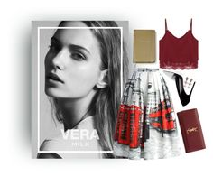 """""""Date night: vintage"""" by andonwednesdayswewearpink ❤ liked on Polyvore featuring Chicwish, Prabal Gurung, Yves Saint Laurent, Kate Spade, vintage and YSL"""