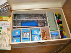 My Carcassonne home made storage. Inside storage unfinished.