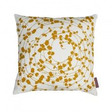 Spiral Hearts linen cushion – ivory / turmeric Chromotherapy, Textiles, Turmeric, Fabric Design, Spiral, Ivory, Cushions, Throw Pillows, Hearts