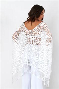 Boho Laced Fringed Kimono - ΡΟΥΧΑ -> Kimono & Jackets   Made of Grace