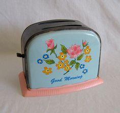 Vintage Tin Toy Toaster by RiffRaffReview, via Flickr