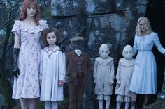 Lauren (left) with the peculiar children in Miss Peregrines Home for Peculiar Children. Picture: Contributed
