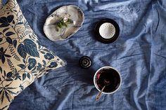 Blå passion! 'Lit de la Fleur' Design: Emma von Brömssen