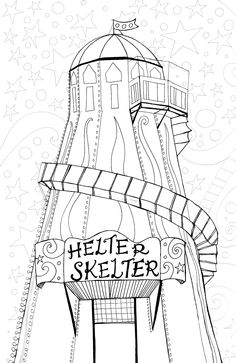 Fantastic hand drawn pictures, print off zazzy colouring for you or your kids to colour in illustration by Lex www.bootherstone.com