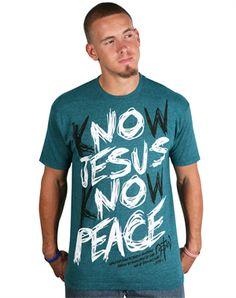 Know Jesus Sketch - Christian Mens Shirts for $10.00 | C28.com