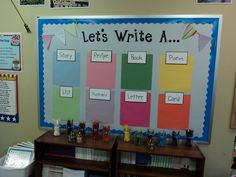 writing center bulletin board