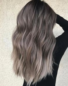 75 ombre hair color for grey silver hair balayage hair, hair Hair Color Purple, Brown Hair Colors, Red Colour, Purple Grey, Pastel Grey, Pastel Hair, Ombre Colour, Blue Hair, Hair Color Balayage