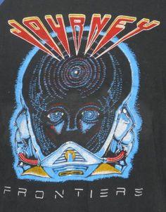 1983 Journey Frontiers Vintage Concert Tour T Shirt Small