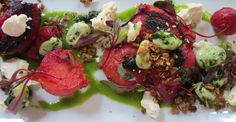 Blackened Beets with Cana de Cabra and Salted Granola - Chef Anthony Sasso