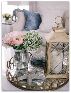 Living Room Reveal and Styling Tips — Classy Glam Living - Coffee table styling with mirror tray Coffee Table Styling, Decorating Coffee Tables, Coffe Table, Table Decor Living Room, Living Room Furniture, Cheap Living Room Sets, Decoration Table, Mirror Tray, Mirrored Tray Decor