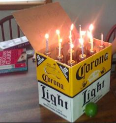 Adult birthday cake :) totally gonna need a 30 pack of bid light cans for this one!!