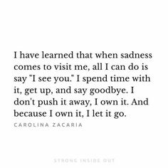 I have learned to do this...