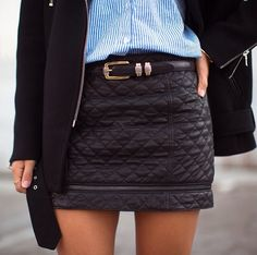Love the quilted skirt