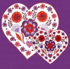 Violet Heart http://www.dmc-usa.com/Inspiration/Projects/Satin-Floss-Cross-Stitch/Satin-Medallion.aspx?technique=cross+stitch