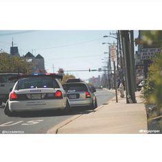 Stanced Police Car
