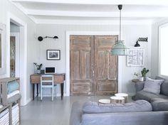 TV closet, made of old sliding doors! New Room Interior / Interiørkonsulent Maria Rasmussen