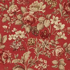 #Fabric #Floral #red - Beautiful!