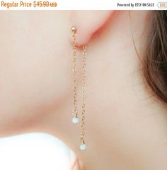 New Year Sale  Double Sided Earring-Front Back by JewelsByMoonli