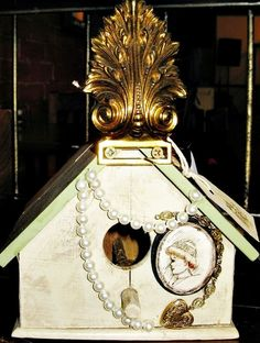 Victorian Birdhouse 2 by Serendipitini on Etsy, $25.00