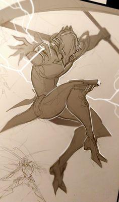 warframe sketches - Steelsuit